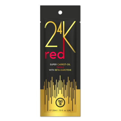 Power Tan 24K - Super Carrot Oil Red 20ml - Przyspieszacz opalania