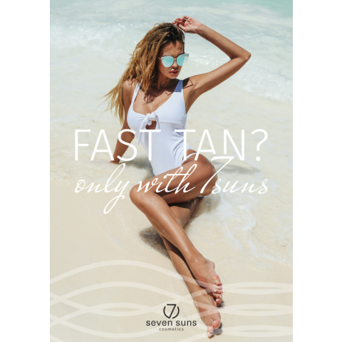 Plakat Fast Tan only with 7suns A3