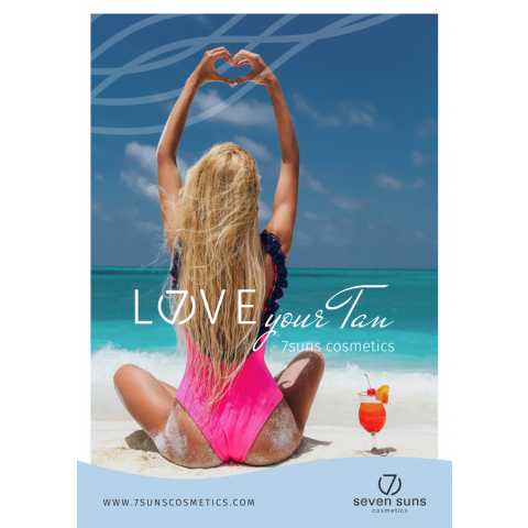 Plakat Love your tan A3