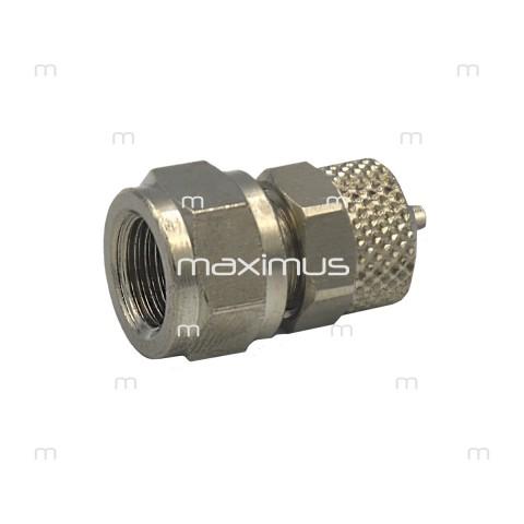 """Złączka bryzy metalowa prosta 6mm do GW 1/8"""""""