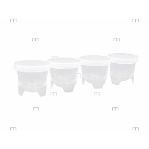 Kieliszki do porcjowania kosmetyków z pokrywkami w komplecie - 100 szt.