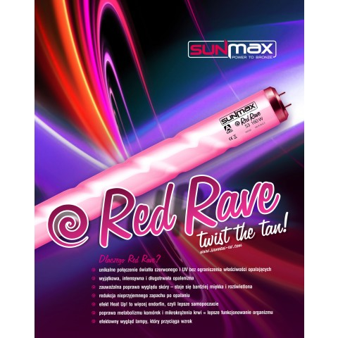Lampa Sunmax Red Rave 180-200W 1.9m 2.6%