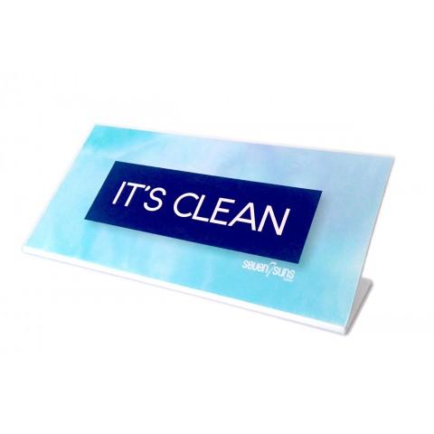 Tabliczka 7suns IT'S CLEAN niebieska