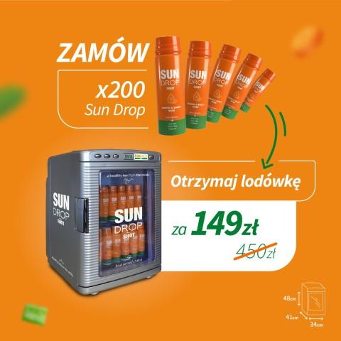 Super pakiet: x200 Sun Drop + lodówka