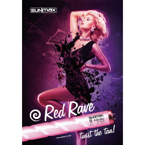 "Plakat Sunmax RED RAVE ""Twist the Tan"" A3"