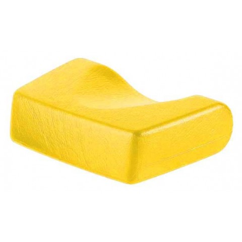 Miękki podgłówek do solarium w kolorze żółtym