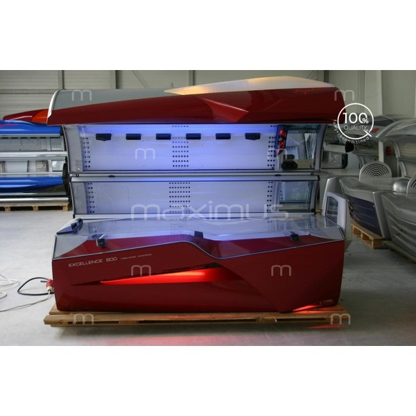 Solarium Ergoline Excellence 800 Turbo Power Fiery Red