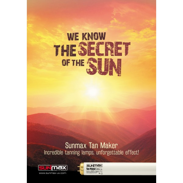 "Plakat Sunmax ""We Know The Secret Of The Sun"""