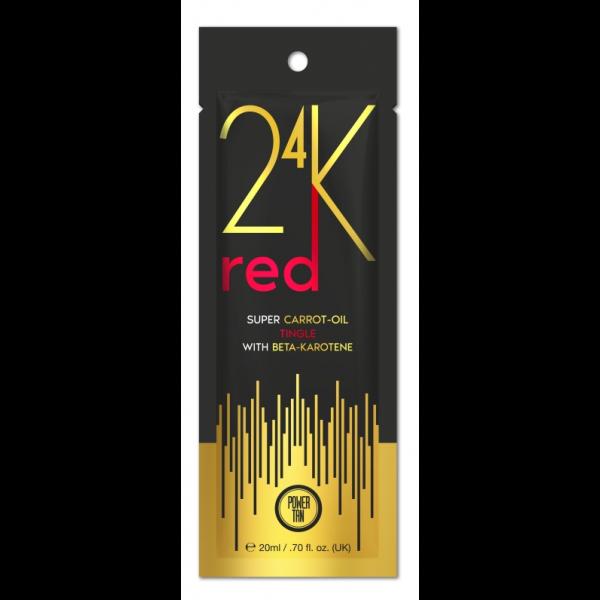 Power Tan 24K - Super Carrot Oil Red 20ml - Przyspieszacz opalania