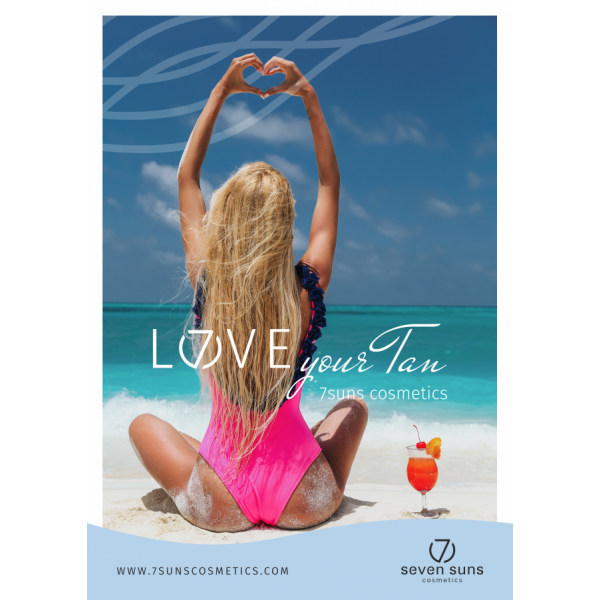 Plakat Love your tan A3