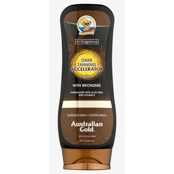 Dark Tanning Accelerator Lotion with Bronzers 237 ml