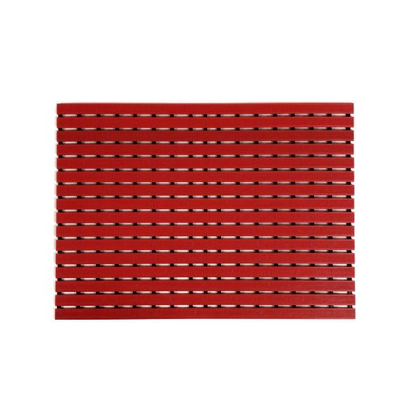 Mata podłogowa 80cm x 60cm - czerwona
