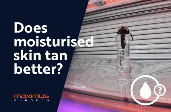 Does moisturised skin tan better?