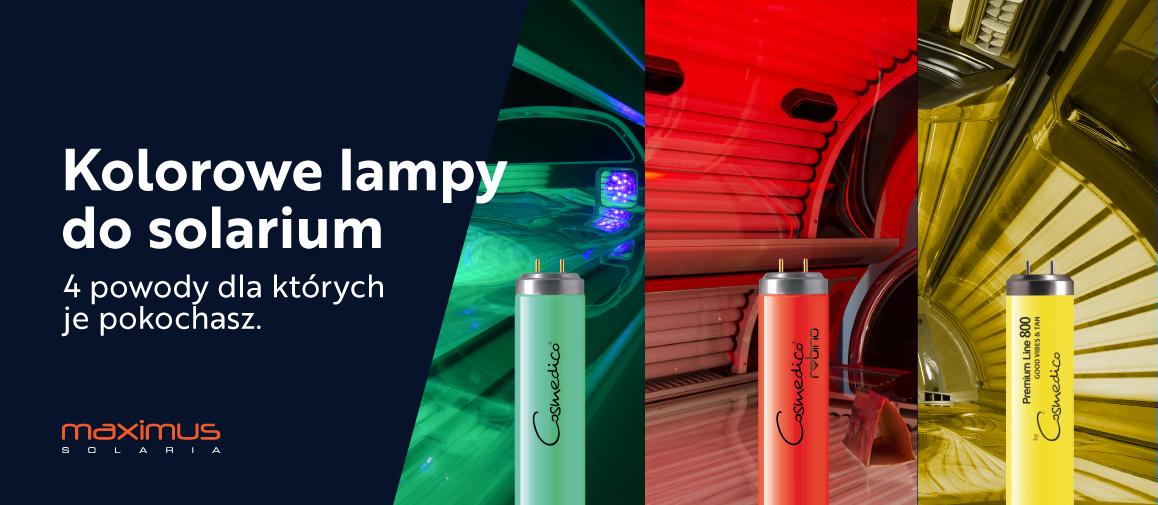 kolorowe lampy uv