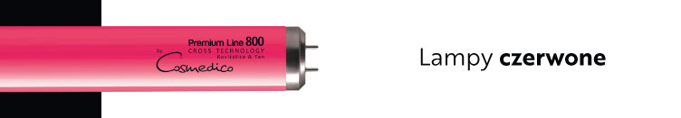 lampy czerwone hybrydowe solarium