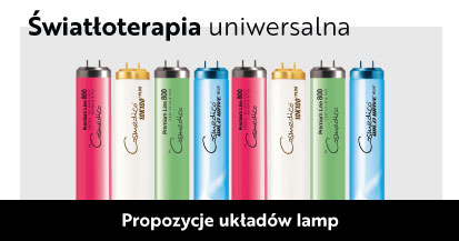 układ lampy hybrydowe, rainbow, do solarium, lampy kolorowe